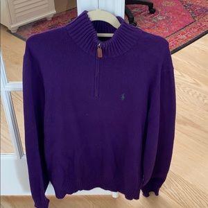 Polo by Ralph Lauren Men's Purple pullover Medium